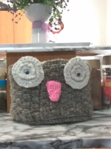Owl Basket crochet