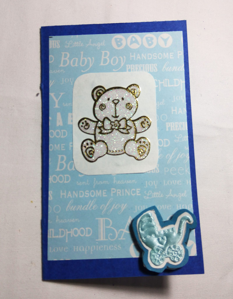 handmade Baby boy blue card