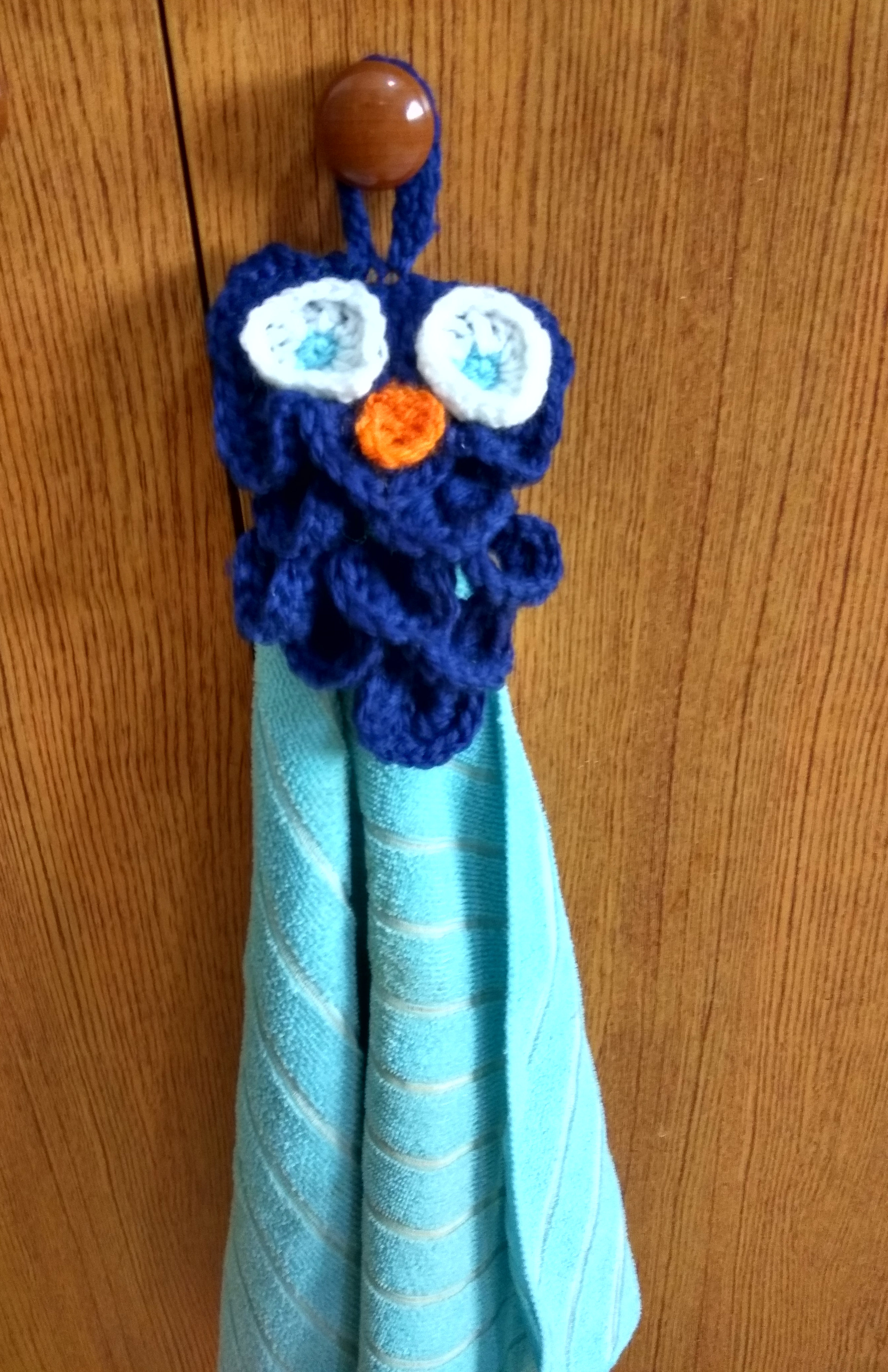 Handmade Crochet Crocodile Owl Towel holder