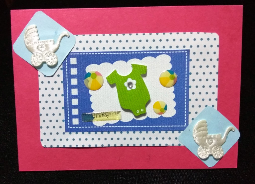handmade front of baby card