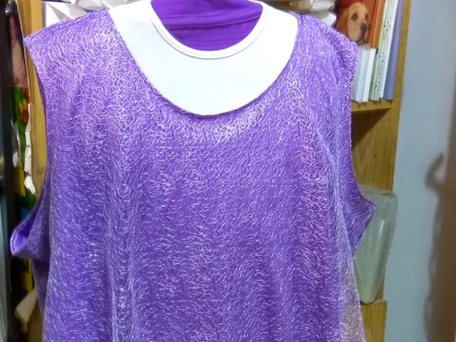 Lace top hand sewn