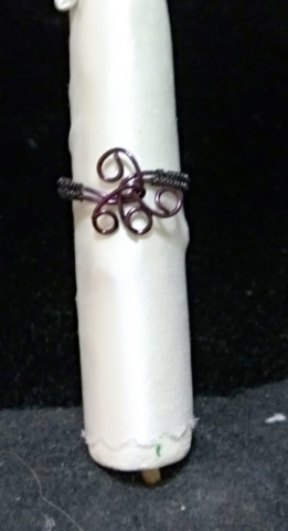 handmade Purple wire twist ring