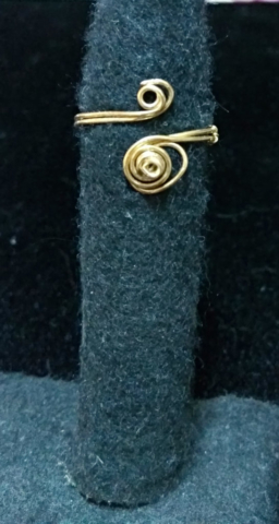 handmade Gold Wire twist ring