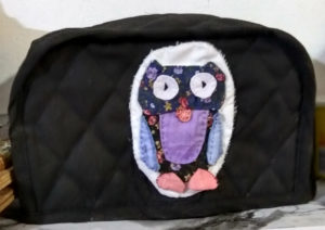 Hand quilted Owl food-processor blade cover
