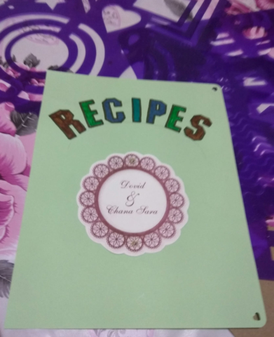 hand lettered, handmade, recipe book , scrapbooking
