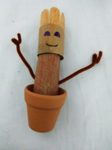 handmade, toilet paper craft, Baby Groot, easy, childrens craft