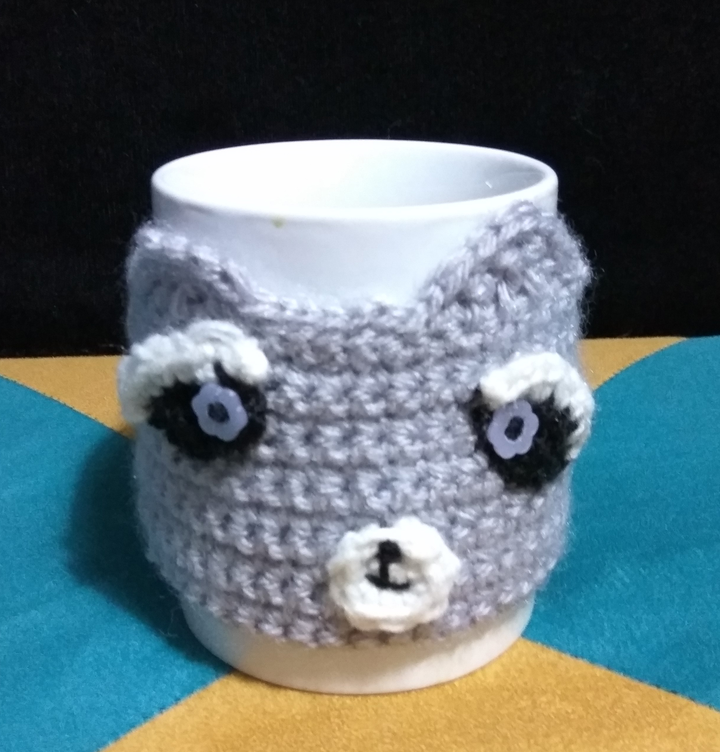 Handmade, crochet, Raccoon, Cozie, quick and easy,