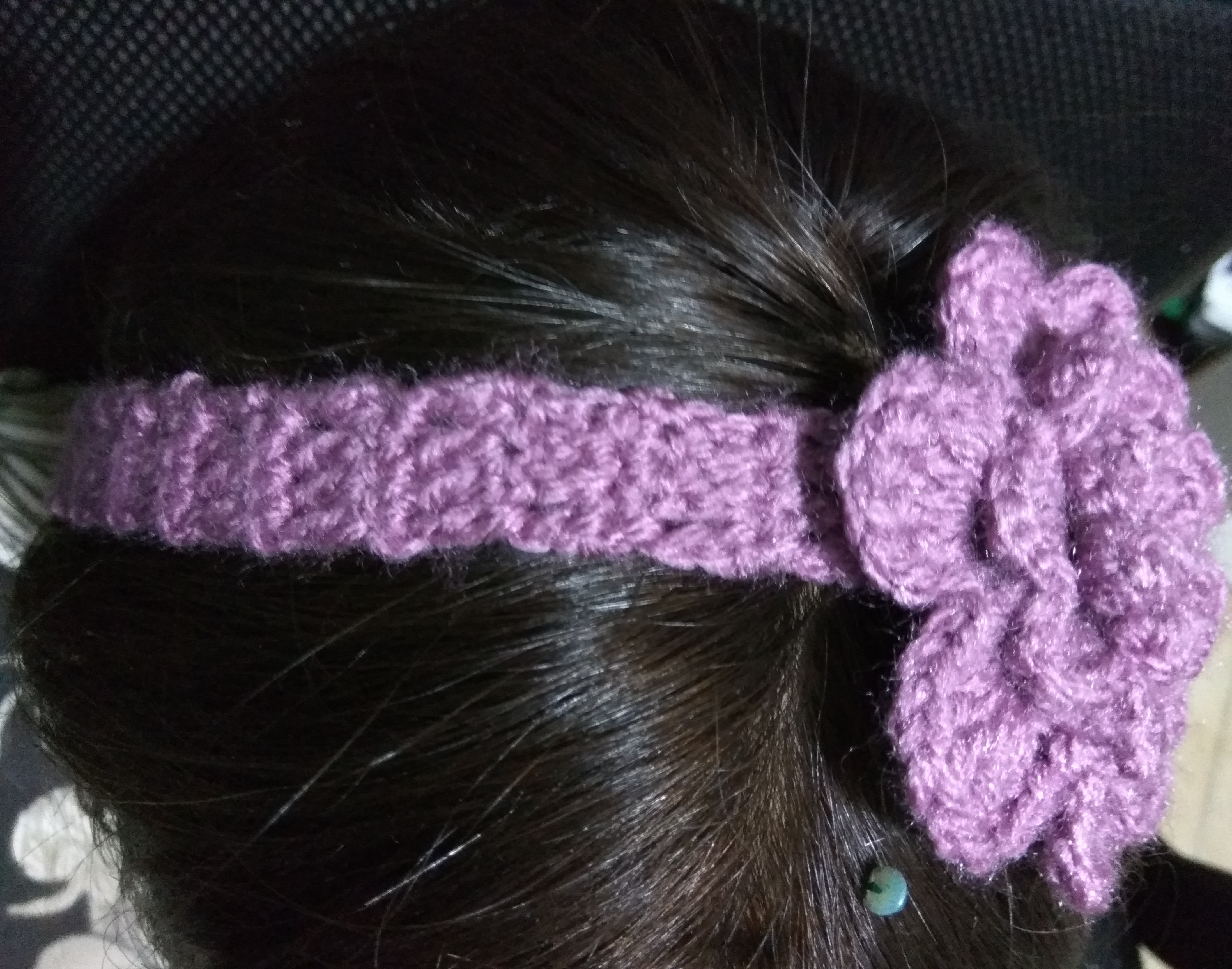 crochet, headband, flower