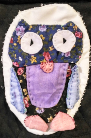 hand quilted Owl patch free pattern